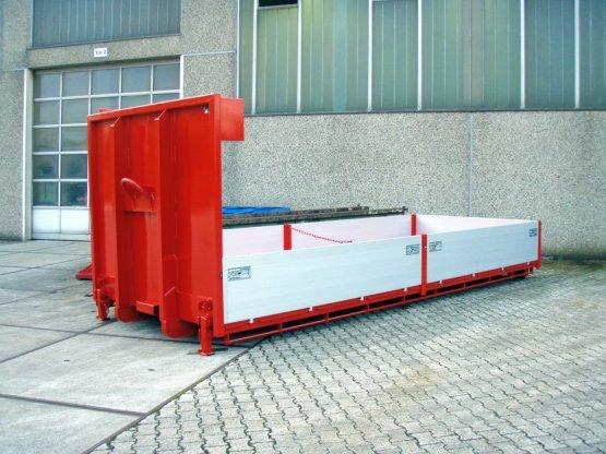 Abroll-Container-Kippaufbau mit Aluminiumbordwänden