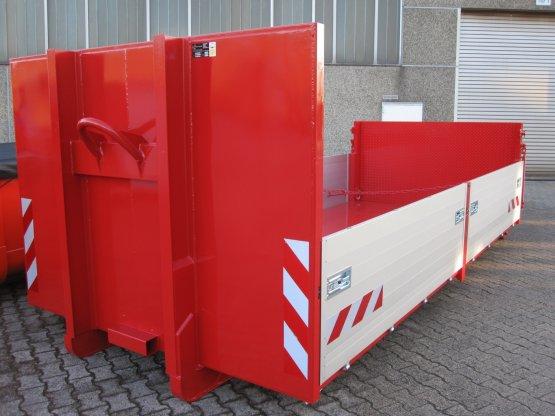 Abroll-Container-Kippaufbau mit seitlichen Aluminium-Bordwänden