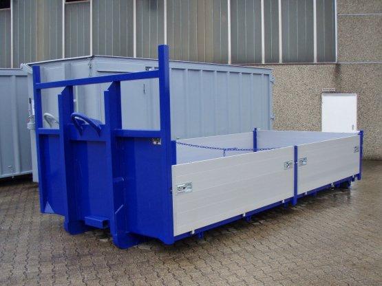 Abroll-Container, Kippaufbau