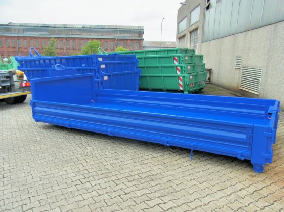 Abroll-Container Kippaufbau
