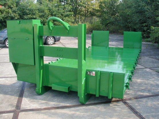 Spezielle Abroll-Container-Plattform zum Baugeräte-Transport
