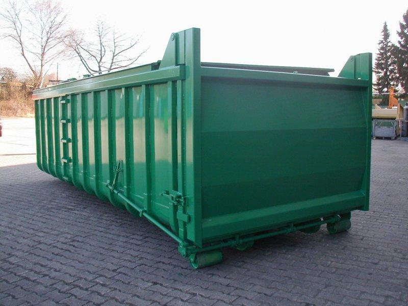 Abrollcontainer mit Klappdach, flüssigkeitsdichte Heckklappe