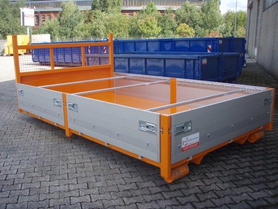 City Container-Kippaufbau mit Aluminium-Bordwänden