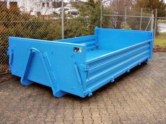 City Container-Kippaufbau mit seitlichen Stahlbordwänden