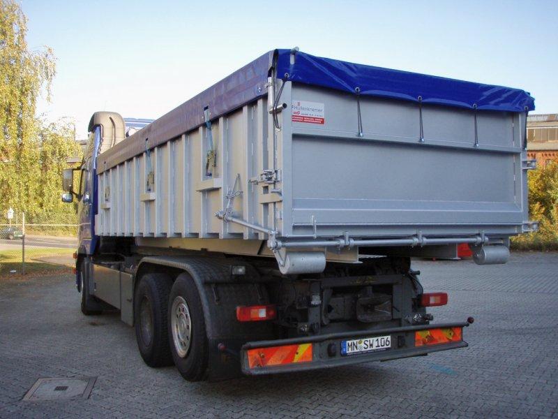 Edelstahl-Abroll-Container, einflügelige Tür