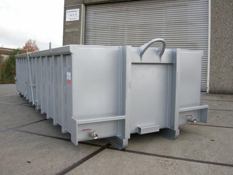 Edelstahl Abroll-Container, Entwaesserungseinrichtung