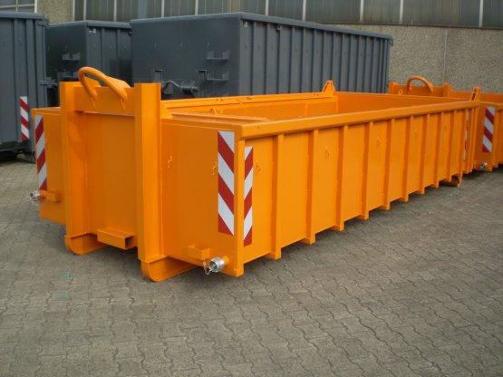 Entwässerungs-Abrollcontainer mit Lochblechen