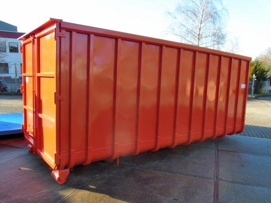 Abrollcontainer. festes Dach