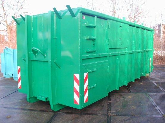 Offener Spezial-Abroll-Container, ausgeführt zum Sammeln von Grünabfällen, Inhalt ca. 34 m³