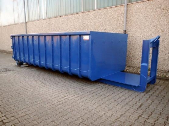 Offener Abroll-Container mit stirnseitiger Kranverlängerung, Inhalt ca. 20 m³