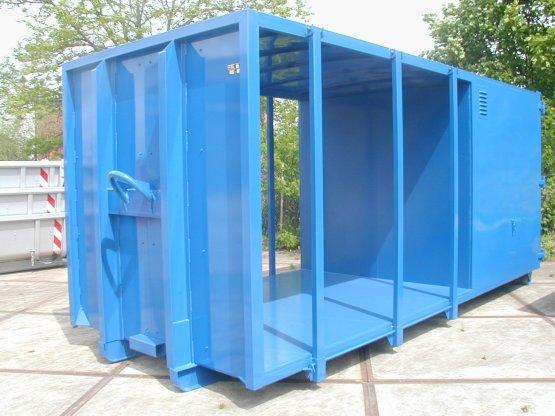 Spezieller Material-Abroll-Container für den Hochwasserschutz