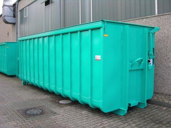 Abrollcontainer mit Klappdach