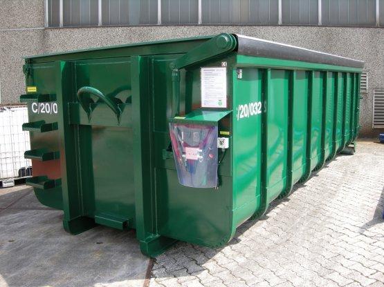 Abrollcontainer mit Klappdach, Elektrohydraulik