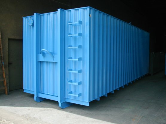 Offener gemäß WHG flüssigkeitsdichter Abroll-Container