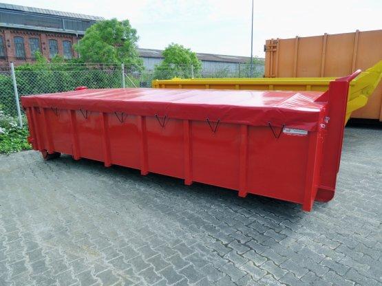 Abrollcontainer mit Rollplanenabdeckung