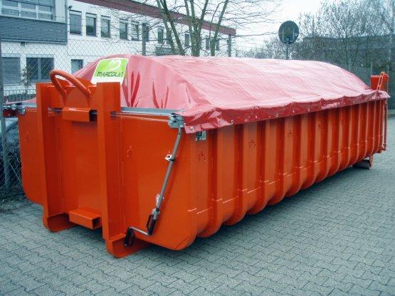 Abrollcontainer mit Schiebeplanenabdeckung