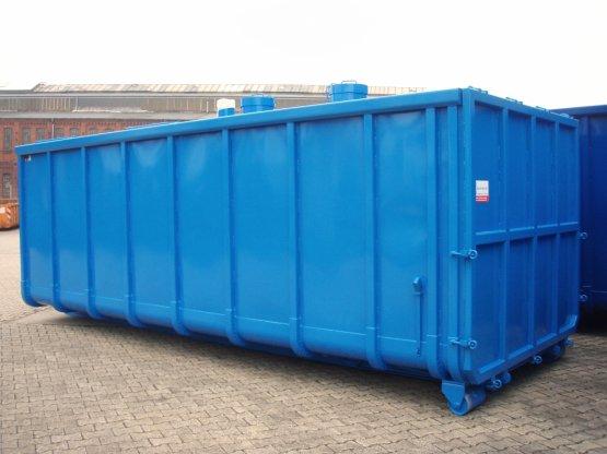Geschlossener Späne-Abrollcontainer, Inhalt ca. 28 m³