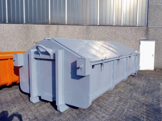 Akten-Hausmüll-Abrollcontainer, Inhalt ca. 17 m³