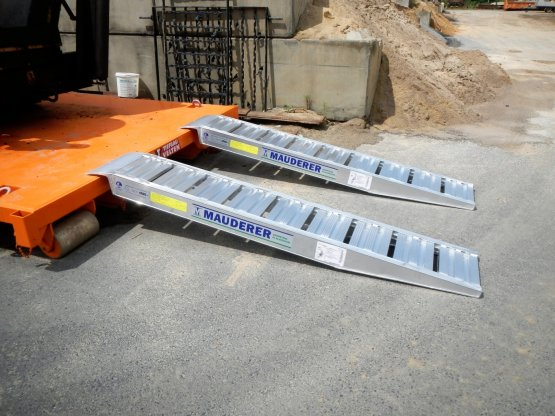 Container Aluminium Auffahrschiene