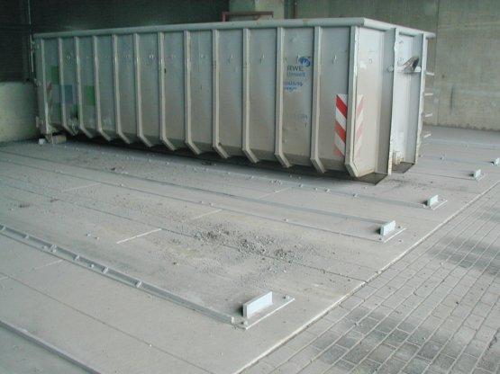 Verzinkte Container-Führungsbahnen