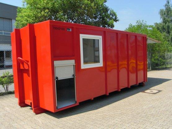 Feuerwehr-Abroll-Container mit Seitenfenster und seitlicher Rolllade