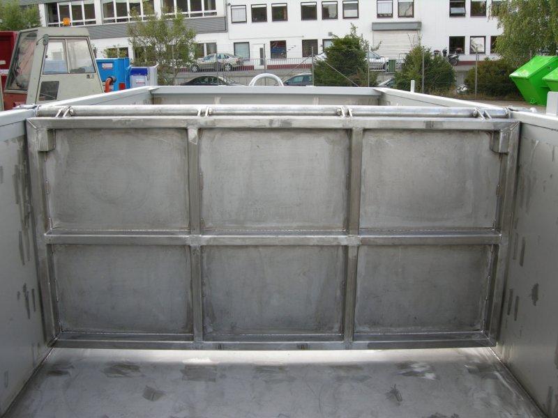 innenliegende Pendelklappe, Edelstahl Abroll-Container