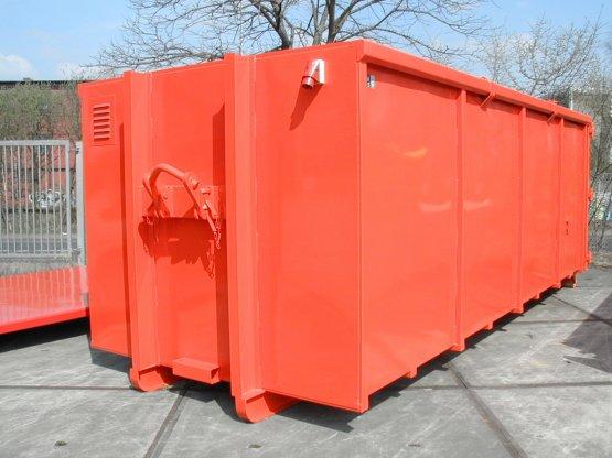 Magazin-Abrollcontainer mit demontierbarem Hakenaufnahmebügel, Innenausbau und Elektrik, Inhalt ca. 28 m³
