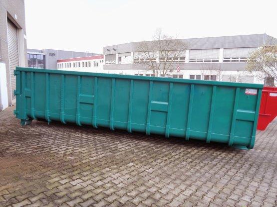 Offener Abrollcontainer mit Doppelflügeltür,versenkte Zurrmulden seitlich