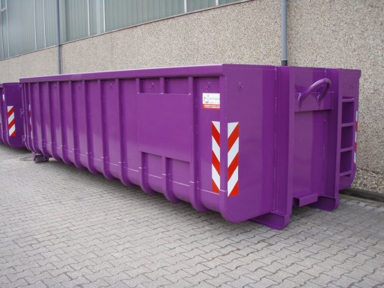 offener Abrollcontainer Beschriftungstafeln
