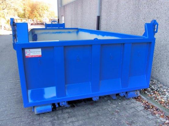 Offener Abrollcontainer mit Entleerungsklappe, Inhalt ca. 13 m³