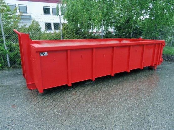 Offener Abrollcontainer mit Doppelflügeltür, Inhalt ca. 11,5 m³, eckige Bauweise