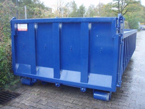 Offener Abrollcontainer mit Entleerungsklappe, Inhalt ca. 11,5 m³
