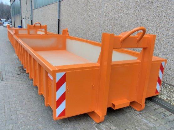 Offener Abrollcontainer mit Entleerungsklappe, Inhalt ca. 9,5 m³