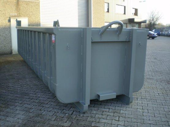 Offener Abrollcontainer mit Entleerungsklappe, Inhalt ca. 10 m³