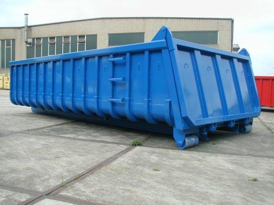 Offener Abrollcontainer mit Entleerungsklappe, Inhalt ca. 15 m³