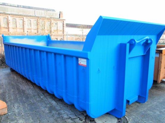 Offener Abrollcontainer mit Entleerungsklappe, Inhalt ca. 16 m³