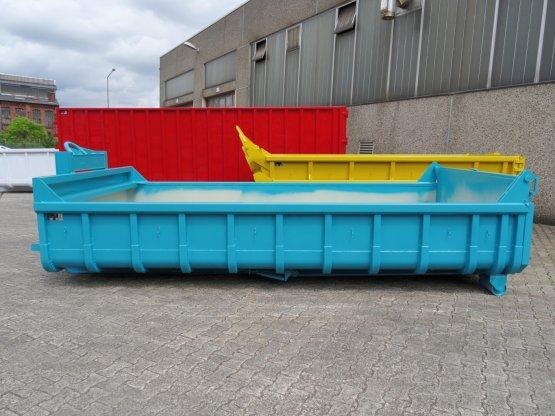 Offener Abrollcontainer mit Entleerungsklappe, Inhalt ca. 9 m³