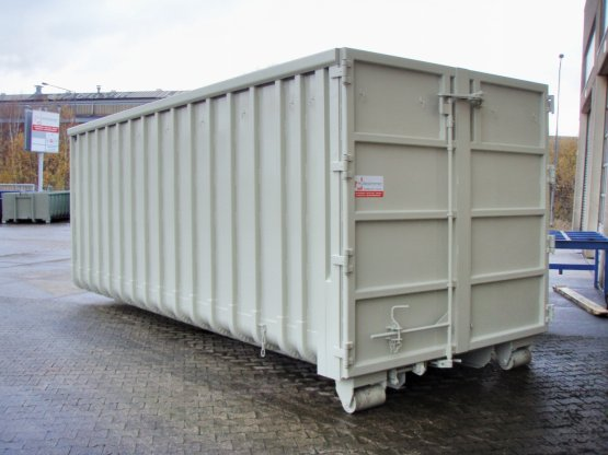 Offener Großcontainer mit Doppelflügeltür verstärkt