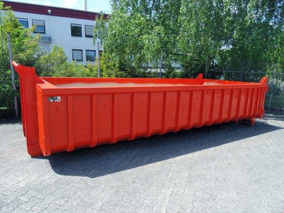 Offener Abrollcontainer mit französischer Tür, Inhalt ca. 14 m³