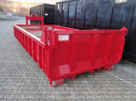 Offener Schüttcontainer mit Entleerungsklappe, Inhalt ca. 13 m³