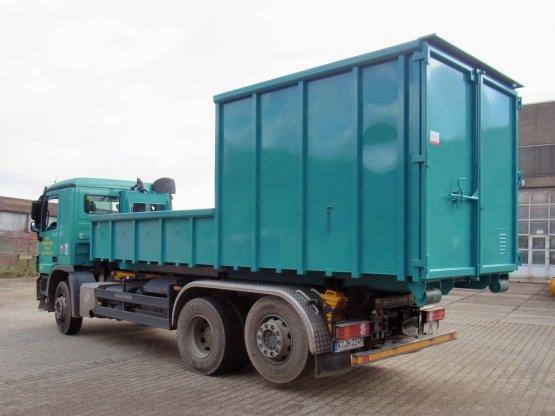 Kombinierter Magazin-Abrollcontainer mit stirnseitig offenem Containerbereich, Inhalt ca. 6/16 m³